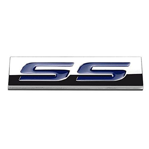 (UrMarketOutlet SS Blue/Chrome Aluminum Alloy Auto Trunk Door Fender Bumper Badge Decal Emblem Adhesive Tape Sticker)