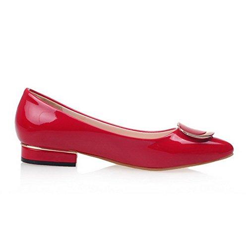 Rot Absatz Damen Rein auf Schuhe Zehe Spitz VogueZone009 Niedriger Ziehen Pumps vxSOwf