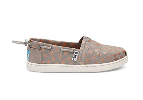 TOMS Girls' 10010054 Rose Gold Dot Imini-K, Gray, 2.5 M US Little Kid