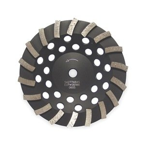 Diamond Segment Cup Wheel, Turbo, 4x5/8-7/8