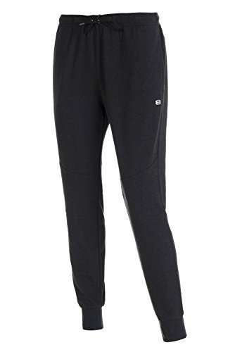 Layer 8 Men's Stretch Knit Athletic Running Jogger Pant (Large, Black Carbon Heather)