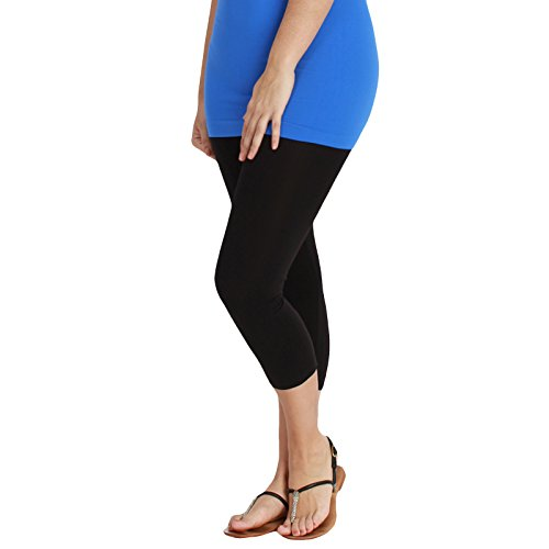 Nikibiki Capri Leggings in Plus Size Plain Jersey 92% Nylon and 8% Spandex - Cheetah Mit Junior
