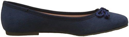 Tamaris Damen 22142 Geschlossene Ballerinas Blau (Navy)