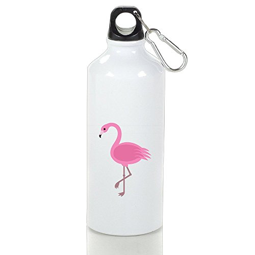 LINNA- Pink Flamingos Unique Drinkware Aluminum Sports Water Bottle - Metallic Finish With Sport Cap For Outdoor And Sport Activities - - Bunbury Miami