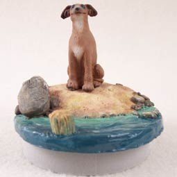 Conversation Concepts Miniature Italian Greyhound Candle Topper Tiny One ''A Day on the Beach'' by Conversation Concepts