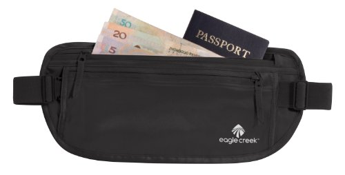 31hN6YwE1QL - Eagle Creek Silk Undercover Travel Money Belt, Black
