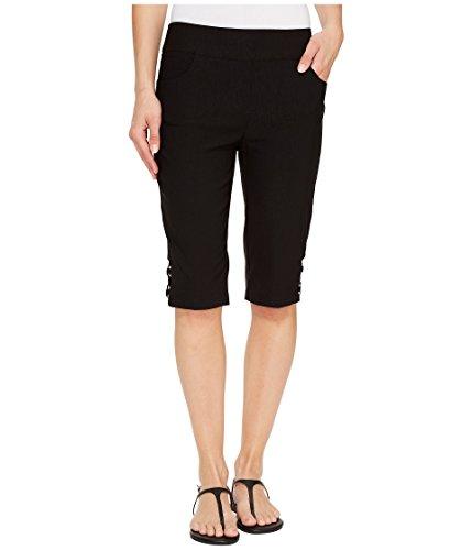 スーダン快適有毒な[トライバル] Tribal レディース Stretch Bengaline 13 Bermuda Shorts with Bling Detail パンツ Black 18 [並行輸入品]
