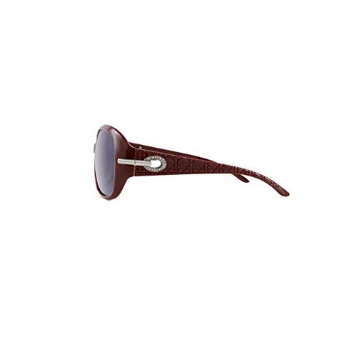 Sungeye Marco Red UV Sol Dates Gafas Color moda Red Polarizadas Mujer dates Gafas sol Oversized Protección de Gafas De Grande 44qUROwr