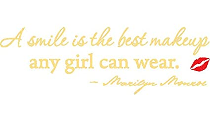 Amazoncom Gold 375 X 12 A Smile Is The Best Makeup Marilyn