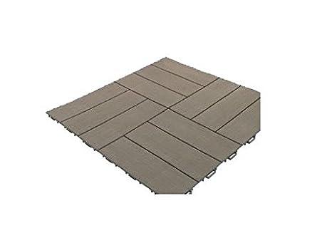 Pavimento marte pe set pz piastrelle grigio simil legno