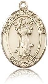 14ktゴールド聖フランシスのアッシジメダル