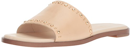 Cole Haan Women's Anica Stud Slide Sandal, Nude Leather, 8.5 B US by Cole Haan