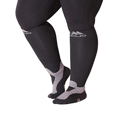 4-XL Mojo Compression Socks™ for Large Ankle and Full Calf - Plus Sized Support Socks for Men & Women Best Compression Socks
