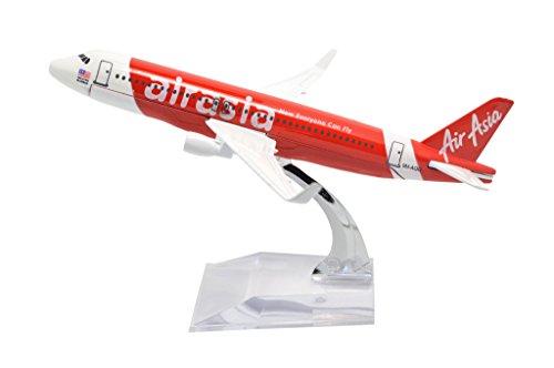 TANG DYNASTY 1/400 16cm エアアジア AIR ASIA エアバス A320 赤い 高品質合金飛行機プレーン模型 おもちゃ
