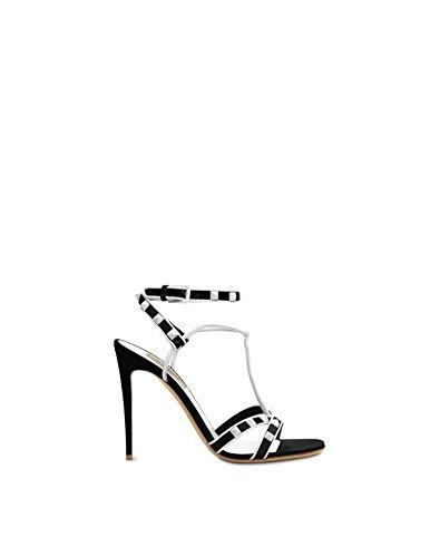 Valentino Garavani Women's Pw2s0f14rju0vp White/Black Leather - Size Valentino 37