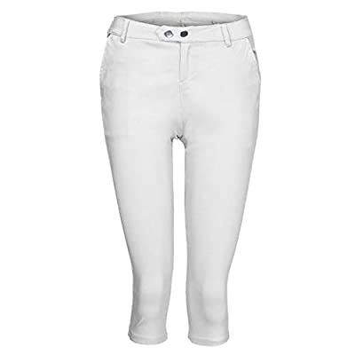 TOTOD Capris for Women Fashion Plus Size S-5XL Solid Button Zipper Casual Pants Calf-Length Trousers at  Women's Clothing store