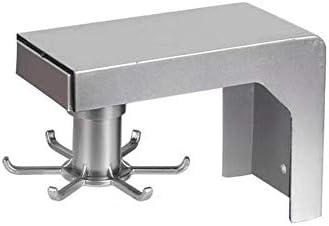 ネクタイコ 回転壁パンチフリーフックコンテナ相補体のためにキッチンラックバスルーム棚オーガナイザーのために4/6フックキャビネットドア棚 クローゼット (Color : Silver 6 hooks)