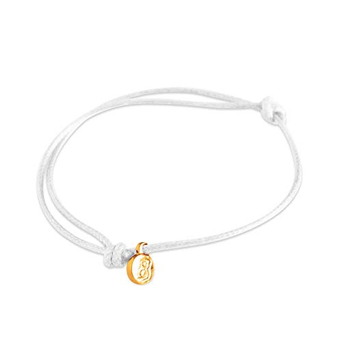 st8te - Adjustable Slim Rope Bracelets for Men & Women. Charm Bracelets with Several Color Finishes. Hair Tie Size, Fit (White Gold)
