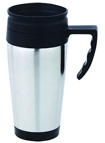 Home Basics VF00178 Stainless Steel Travel Coffee Mug, Silver