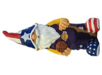 Forever Collectibles NBA Los Angeles Lakers Team Patriotic Gnome