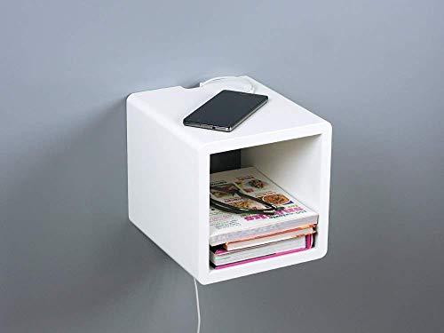 Amazon.com: Mini mesita de noche flotante, pequeña mesa ...
