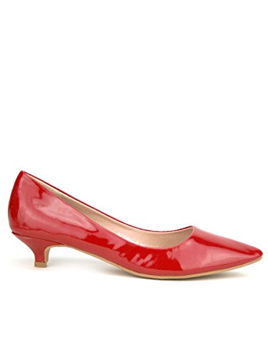 Milana Verni Rouge CendriyonEscarpin Femme Chaussures Talon Petit f7Ib6Yvyg