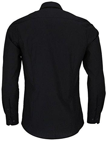 Marvelis Hemd Body Fit schwarz mit Teilungsnaht - 6798.64.68
