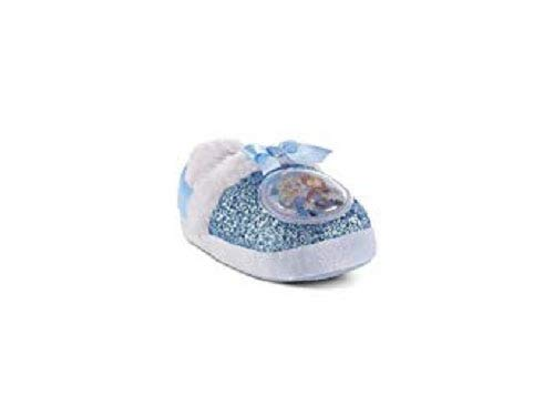 Disney Toddler Girls' Frozen Blue House Slipper (Large Toddler 9/10)]()