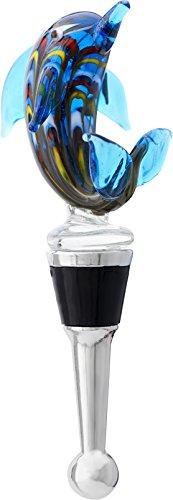 Dolphin Wine Stopper - LSArts Wine Bottle Stopper, Venetian Dolphin