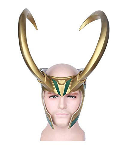 Yacn Loki Helmet with Horns,Norse God Loki Crown mask from Thor Ragnarok for Halloween ()