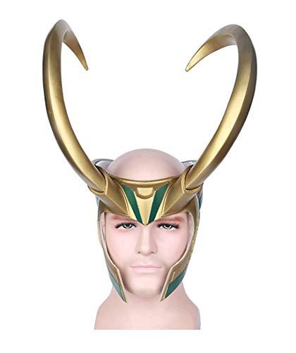 (Yacn Loki Helmet with Horns,Norse God Loki Crown mask from Thor Ragnarok for)