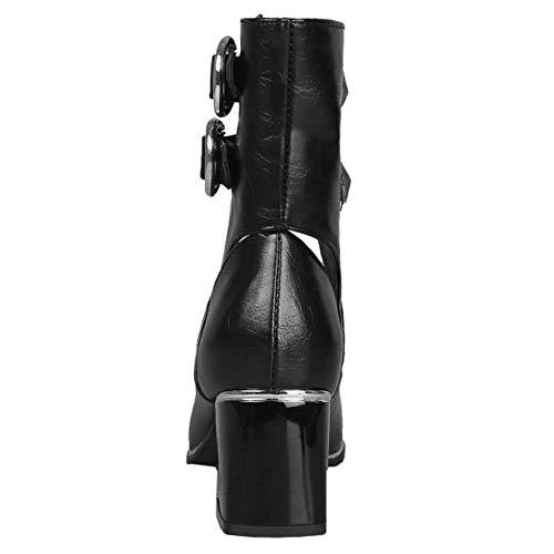 Talons Noir Escarpins Bottines Carrés Mode Femme Lydee xqEw8Ppx