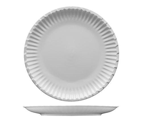 (Fortessa Fortaluxe Food Truck Chic Paper Plate Design, Dinner Plate, 10-Inch, Set of)