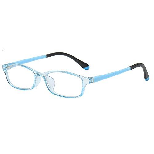 Fantia Children's Glasses Square Eyeglasses Frame Kids Eyewear 2018 New (Light Blue)