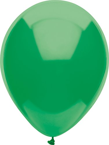 PartyMate 71983 Made in the USA Standard Color 5-Inch Latex Balloons, 50-Count, Deep Jade