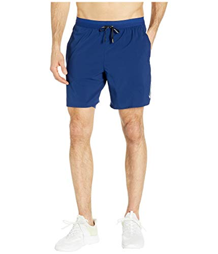 Nike Men's Flex Stride 7In 2-in-1 Running Shorts Blue Void/Blue Void/Reflective SILV L (Men Fit Shorts Running Dri)