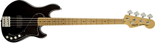 Deluxe Maple Bass (Squier by Fender Deluxe Dimension Bass Guitar IV Maple Neck, Black)
