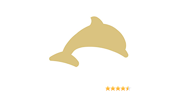 Free Standing 18mm MDF Dolphin Craft Shape Various Sizes Ocean,
