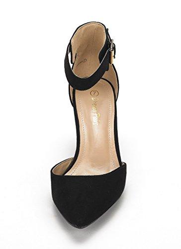 Low Lowpointed Suede Dress Black Shoes Heel Women's Pairs Pump Dream tgxaPq