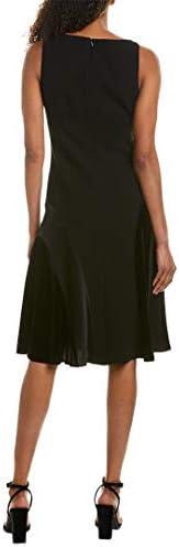 Elie Tahari Womens Zaria A-Line Crepe Cocktail Dress Black 4