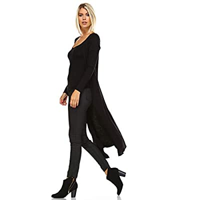 Issac Liev Isaac Liev Trendy Extra Long Duster Soft Lightweight Cardigan - Made in The USA at Women's Clothing store