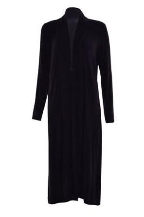 New Ladies Long Sleeveless Open Front Long Length Boyfriend Maxi Cardigan Top
