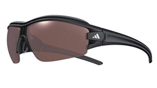 adidas Evil Eye Halfrim Pro L Polarized Wrap Sunglasses, Matte Black, 72 - S Eye Halfrim Pro Evil