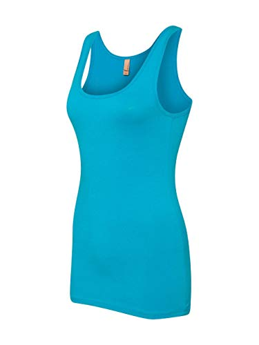 (Next Level womens Next Level The Jersey Tank(3533)-TURQUOISE-2XL)