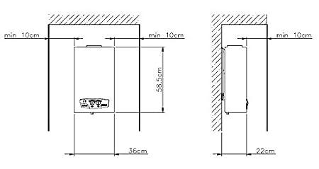 Alta calidad Gas Calentador de agua instantáneo caldera TermaQ G-19 - 02: Amazon.es: Bricolaje y herramientas