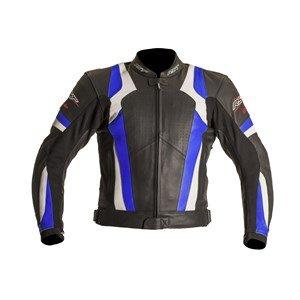 Nouvelle RST lame 1056 moto cuir Jacket Blue