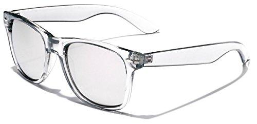 Retro 80's Fashion Sunglasses - Colorful Neon Translucent Frame - Mirrored Lens - - Womens Online Sunglasses Cheap