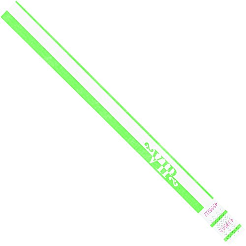 Partners Brand PWR106GN Tyvek Wristbands, 3/4
