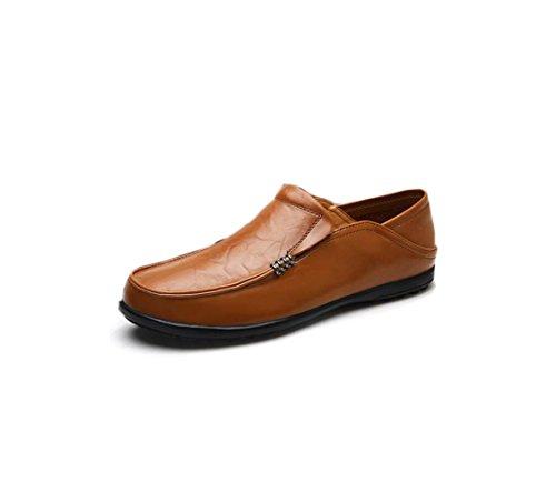Affari Nastro Sandali Colore A Tela Stagione Tondo Stivali Scarpe Morbido in Pelle Brown Casual Uomo Punta Sportivi wnC1xIqqBz
