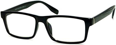 VINTAGE Designer Style Rectangle Frame Clear Lens Eyeglasses